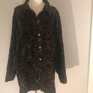 Susan Graver paisley blouse